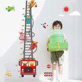1 Pcs Mignon Camion Hauteur Mesurer Sticker Mural Stickers Muraux Home Room Décoration Enfant Croissance Graphique Jouets