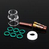 10 Adet 1.6mm 1 / 16inch TIG Kaynak Torçları Kazan Gazı Lens # 12 Pyrex Cup Kit, WP-17/18 için