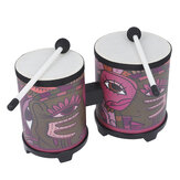 Mounchain Indian Decal Bongos Drum with 2 Pcs Drumsticks for Percussion Instruments Parts Instruments Accessories