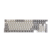 Conjunto de teclas cinza e branco de 116 teclas para teclado de sublimação de corante PBT de perfil OEM para teclado Mecânico