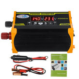 4000W Car Power Inverter DC 12V To AC 100V/220V LCD Display Adapter Dual USB