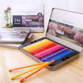 Deli 72 Farver Oily Color Pencil Set Soft Kernekridtoner Maleri Tegning Skitsering Farvede blyanter Maling Supplies