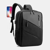 Grote capaciteit voor mannen met opladen via USB Business Travel Schooltas voor buiten 14 inch laptoptas Rugzak