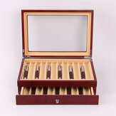 Wooden Fountain Pen box 12/23 Grid Wood Display Case Holder Storage Collector Organizer Box Black Red