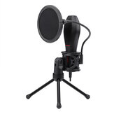 Redragon Omni USB Condenser Recording Microphone With Tripod For Laptop Computer Cardioid Studio Recording Vocals Voice Over