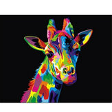 Oil Painting By Number Kit Colorful Giraffe Painting DIY Acrylic Pigment Painting By Numbers Set Hand Craft Art Supplies