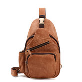 Genuine Leather Casual Multi-function Chest Bag Retro Bag