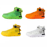 Men Comfortable Summer Men Casual Sneakers Breathable Lightweight Mesh High-top Shoes