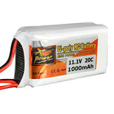 ZOP Power 11.1V 1000MAH 20C 3S Lipo Battery JST Plug