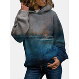 Original              Women Landscape Sunset Printed Regular Fit Long Sleeve Casual Hoodie