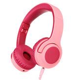 Q2 Kinderkopfhörer mit ohrklappbarem Kinder-Headset mit Lautstärkebegrenzungs- und Freigabefunktion 3,5-mm-Buchse für Schule Jungen Mädchen