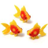 3pcs Aquarium Fish Tank Artificail Glodfish Simulation Swiming Fish