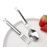 Nextool Stainless Steel Tableware Food Spoon Fork Sophisticated Portable Dinnerware Set From