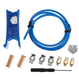 2*4mm Blue PTEF Tube + PC4-01 Connector + KJH 04-M6 Connector + 10*25mm Spring + Cutter Kits for 3D Printer