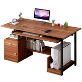 Computer Laptop Desk Study Writing Table Workstation with Storage Cabinet and Computer Case Shelves Home Office Furniture