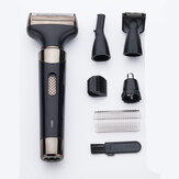 4 In 1 1200mAh USB Rechargeable Electric Hair Clipper Waterproof Beard Shaver Sideburns Eyebrows Nose Hair Trimmer