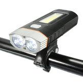 5 modalità di luce per bici USB ricaricabile da 500 lumen per bicicletta lampada Torcia per faro anteriore Accessori per biciclette MTB