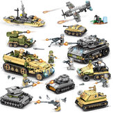 1061PCS Plastic & ABS 8 Kinds Of Steel Empire Themed Military War Bricks Toy For Children