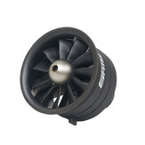 FMS 64MM Ducted Fan EDF 11 blade With 4S 2840-KV3150 Motor for Fixed Wing RC Airplane Jet