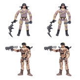 4PCS WPL B36 JJRC Q65 MN-90 Subotech BG1522 Simulating Military Action Figure Soldier Doll 10cm Rc Car Parts