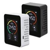 Monitor de ar CO2 3 em 1 Detector de dióxido de carbono Sensor LCD Monitor digital 5000PPM de temperatura e umidade Sensor Testador