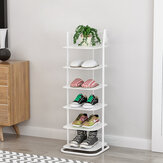 SUOERNUO Xj066 Six-tier Shoe Rack Small Organizer Saving Space for Home