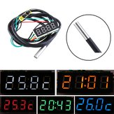 0.36 Inch 3-in-1 Time + Temperature + Voltage Display DC7-30V Voltmeter Electronic Watch Clock Digital Tube