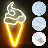 Sorvete LED Luz do sinal de néon Obra visual Luzes noturnas Lâmpadas de parede Home