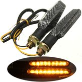 2pcs 9 LED 12V Motorcycle Turn Signal Indicator Lights Amber Lamp Universal