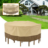 Garden Round Wasserdichte Tischabdeckung Patio Outdoor Möbel Set Shelter Protection