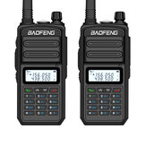 2PCS BAOFENG BF-S5plus 18W Impermeabile UV Doppio Banda Portatile Radio Walkie Talkie Torcia elettrica Escursionismo Interphone Spina nera