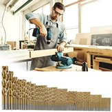 105Pcs 1.5-10mm HSS T wist Drill Bit Titanium Coated Power Woodworking Tools