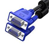 BIAZE XL2-blauw HD 3 + 6 VGA-kabel VGA-naar-VGA-kabel Dubbele magnetische ring Blauwe koppen Video Singal-kabelconnector voor projector Computer TV-monitor