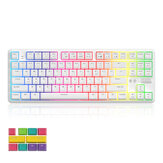 AJAZZ K870T 87 Keys Mechanical Keyboard RGB Wireless bluetooth + Type-C Wired Dual Mode Mechanical Switch Gaming Keyboard