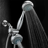 Multifunction Double Head Top Rainfall Shower Head Set with Three Ways Water Valve