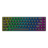 Royal Kludge RK855 68 Keys Mechanical Gaming Keyboard Dual الوضع Wireless bluetooth 5.1 Type-C لوحة مفاتيح سلكية بإضاءة خلفية RGB