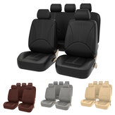 Auto Universal Car Five Seat Covers Faux PU Leather Mat Para Four Seasons Almofada Completa