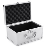 Aluminum Hard Case Foam Black Briefcase Tool Box Carrying Case Portable Tool Case