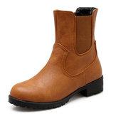 كبيرةالحجمجولةاصبعالقدمالانزلاق على منتصف العجل أحذية عادية