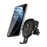 BlitzWolf® BW-CW2 Car 15W Qi Wireless Charger Automatic Clamping Air Vent Car Phone Holder Car Mount 360º Rotation For 4.0-6.8 Inch Qi-enabled Smart Phone For iPhone 11 11 Pro Max SE 2020 For Samsung Galaxy Note 20 Huawei