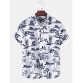 Chemises à manches courtes décontractées pour hommes à la plage d'Hawaï