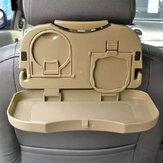 Bandeja porta-copos de prato de refeição / banco traseiro de carro Bandeja de comida com porta-copos para garrafas