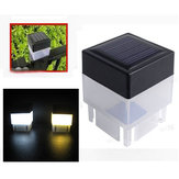 Solar Powered LED Luz quadrada branca para fechamento Post Piscina Garden Outdoor Decor