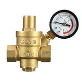 DN20 NPT ½'' Adjustable Brass Water Pressure Regulator Reducer with Gauge Meter