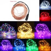 5M 50 LED Copper Wire Christmas Outdoor String Fairy Light DC12V