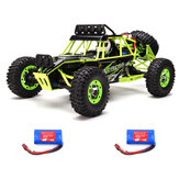 WLtoys 12427 2.4G 1/12 4WD Crawler RC Car With LED Light Two Batterie