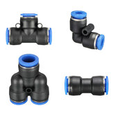 Pneumatic Push In Fittings for Air Water Hose Pipe Connectors Tube Connector