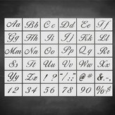36pcs Letter Alphabet Number Stencil DIY Drawing Template Wall Wood Painting Set