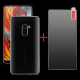 Bakeey Transparent Soft TPU Protective Case + Anti-Explosion Tempered Glass For Xiaomi Mi MIX 2 Non-original