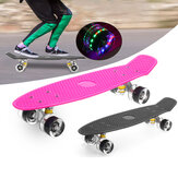 22inch Unisex Children Adults Skateboards Colorful LED Light PU Wheels Beginner Skateboarding Kids Skateboard for Girl Boys Youths